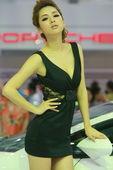 兰博基尼美女模特车展实拍