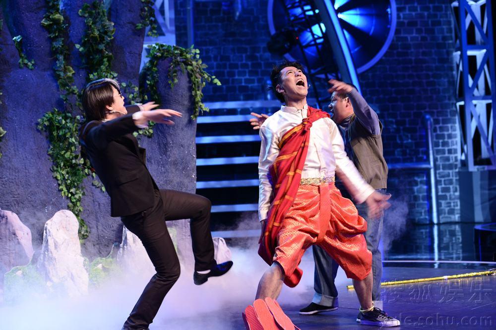 日晚,大型喜剧真人秀《笑傲江湖》第二场复赛将在东方卫视播出.图片