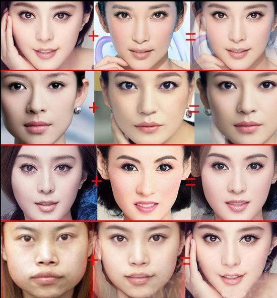 女星脸部合成图 凤姐加范冰冰等于超级美女 家