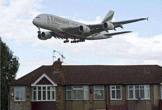 百架飞机噪音影响