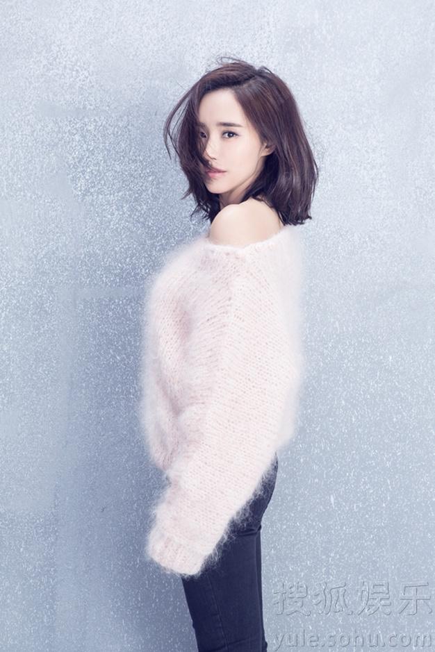 王智新发型拍写真 纯净高雅时尚气质脱俗