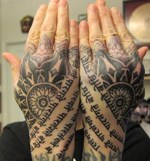 手上的艺术 创意十足的组合式手部纹身5780908-男人