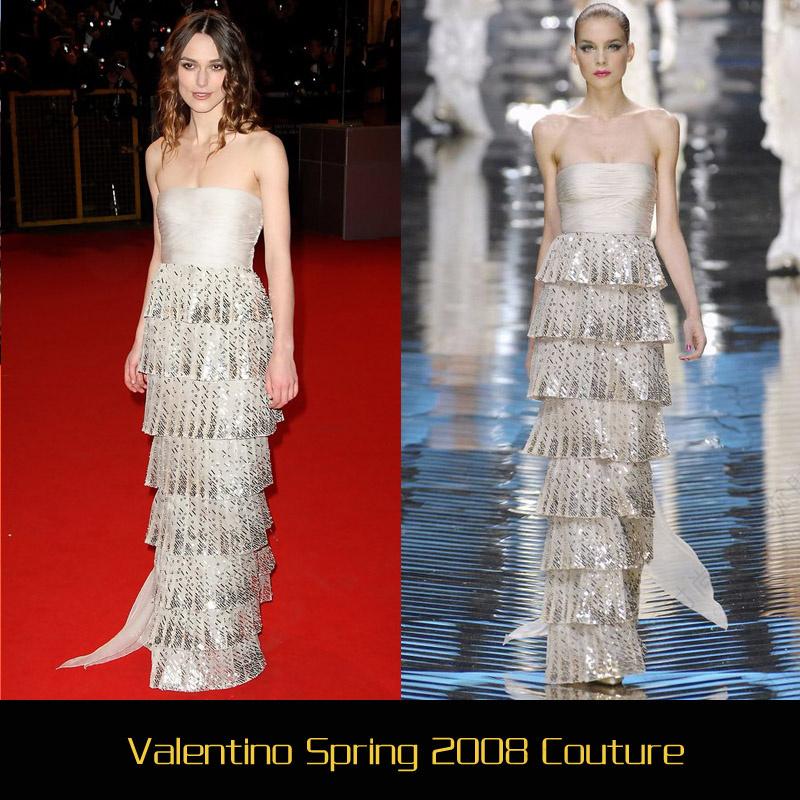凯拉奈特利 最适合穿valentino礼服的女神