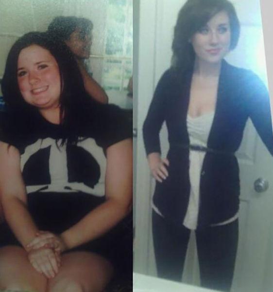 男胖子减肥对比照片_国外女子减肥前后对比照走红网络
