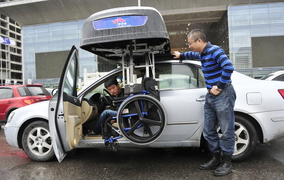 高中生车载驾车高中箱残疾人发明再无忧-轮椅汝阳汽车v高中图片