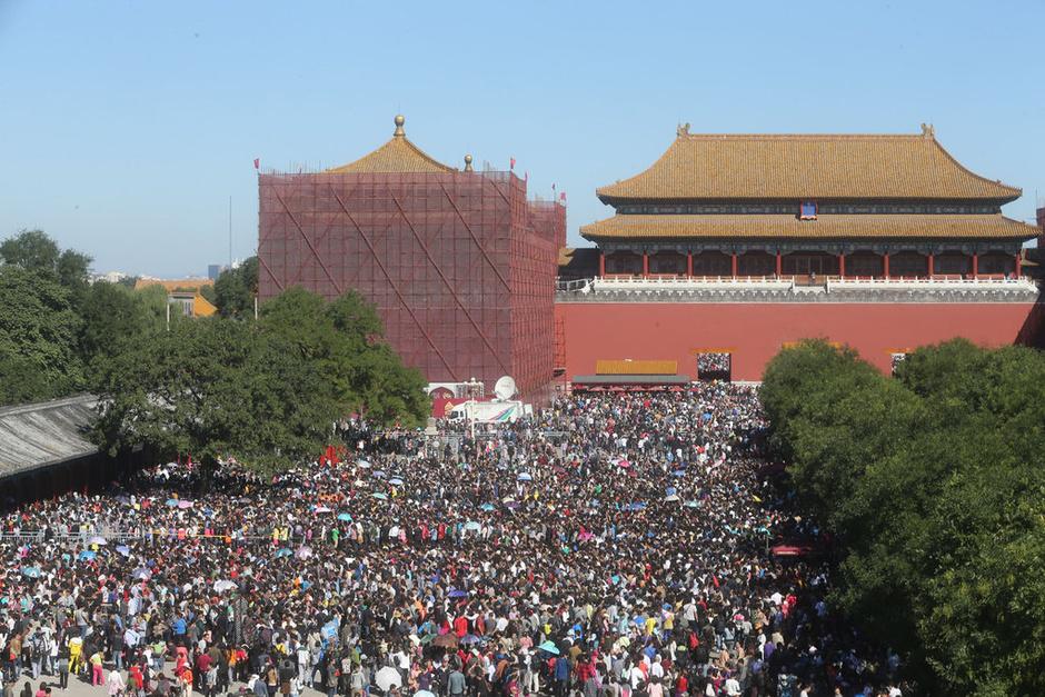 北京:国庆第二天 7万游客逛故宫 - lvjunjiang - 林夕的博客