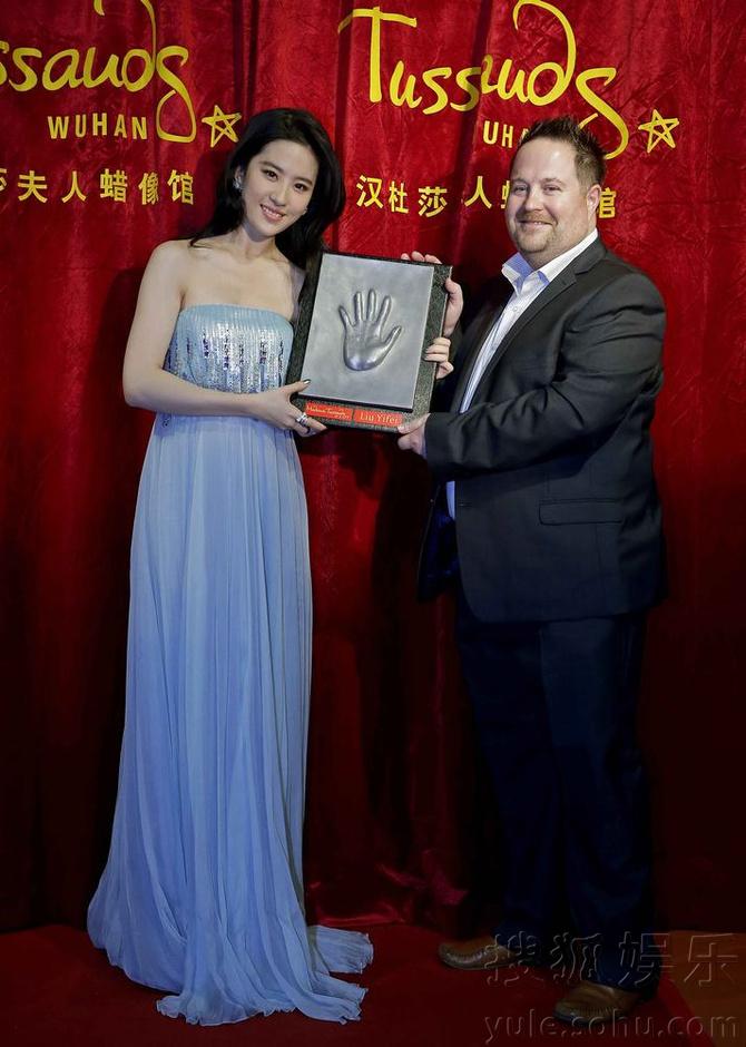 杜莎夫人蜡像馆刘亦菲蜡像新造型揭幕5843844