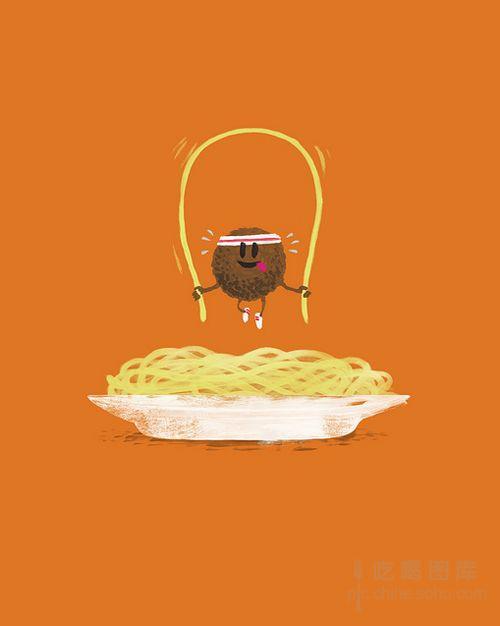 创意小清新食物插画:活泼的食物们