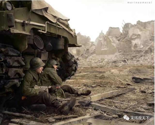 罕见的彩色二战照片 回忆重要历史瞬间 (多图)