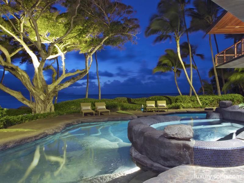 豪宅家居  责编:郭桐                美轮美奂的创意设计:夏威夷海滨