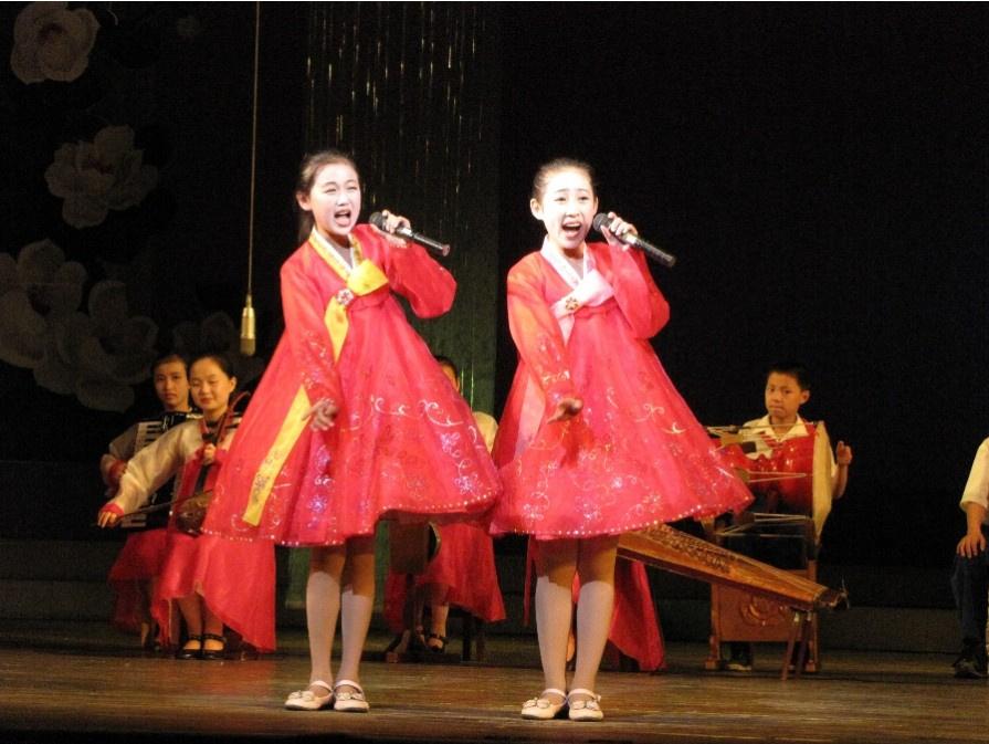 朝鲜儿童激情演出表情夸张神同步6126764 女