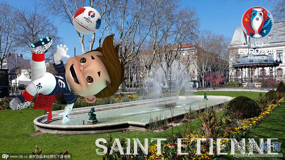 高清图:法国欧洲杯吉祥物亮相 蓝衣萌娃似梅西图片