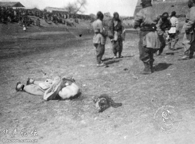 八国联军北京屠杀中国人数十万
