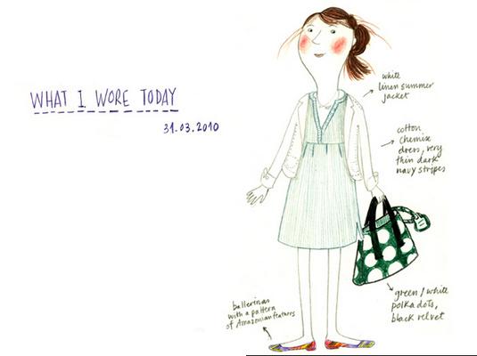 创意手绘自画像 今天我穿了什么5551780-女人频道