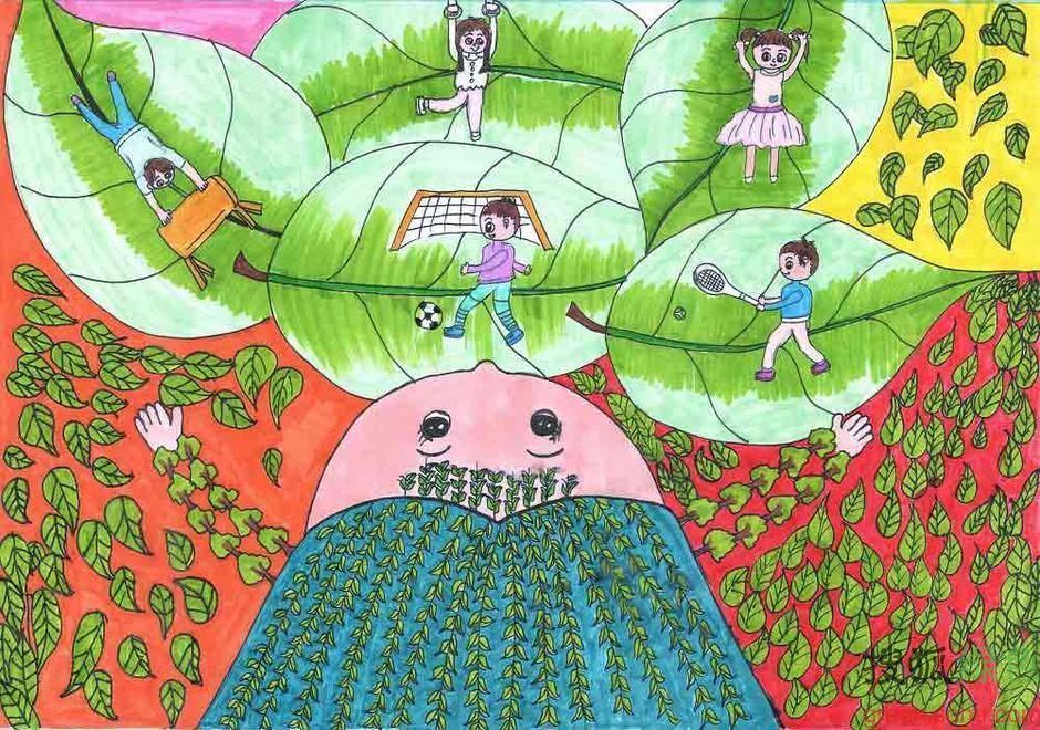 【转载】 2013植树节:儿童画作呼吁 植树赶跑雾霾