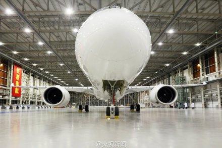 首架国产大飞机c919下线照曝光