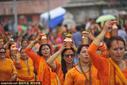 尼泊尔Shrawan Sombar节 民众向祈求家庭幸福
