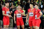 高清图:接力决赛中国获第四名 苏炳添表情夸张