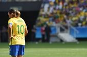 高清图:加拿大2-1巴西女足摘铜 玛塔背影无奈