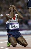 北京时间8月5日,2012伦敦奥运会男子10000米决赛。英国选手穆罕默德-法拉赫以27分30秒42...