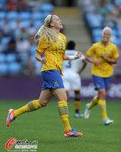 高清图:女足瑞典战胜南非 达尔奎斯特激动庆祝