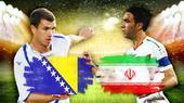 波黑伊朗对位:哲科米西首发 伊朗或历史性晋级