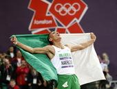 高清图:男子1500米马克洛菲夺冠 仰天长啸欢庆