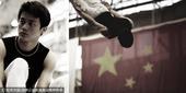 中国蹦床队写真之一 跳跃的精灵旋转的王子(图)