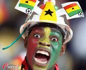32强球迷之加纳:人人都是表情帝 萝莉眼神无辜