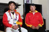 独家图:搜狐体育专访鲁凌张宇 两教练略显拘谨