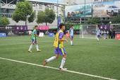 高清图:2014足球梦上海海选 对抗比赛精彩火爆