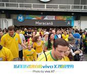 前方图:直击男足决赛现场 巴西球迷挤爆体育馆