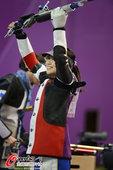 高清图:女子10米气步枪决赛 易思玲夺本届首金