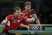 组图:乒乓男团德国胜韩国获铜 波尔咬牙下两分