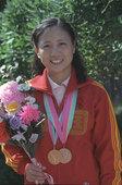 北京时间7月28日,2012伦敦奥运会射击比赛在皇家炮团军营结束女子10米气步枪决赛争夺。易思玲以总...