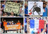 组图:欧洲杯横幅荷兰抢镜 伊布超人C罗遭调侃