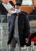 林丹戴口罩赴机场 防偷拍目光警觉眼神犀利(图)