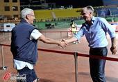 高清:里皮携恒大教练组越秀山观战 握手德拉甘