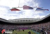绝美在伦敦:奥运赛场意外频发 酒瓶横飞现囧态