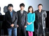 图文:左起:导演石井裕也、中村苍、仲里依纱、石桥凌