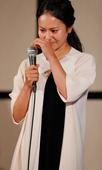 组图:前女子世界第一将退役 宫里蓝泪洒发布会
