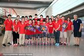 高清:U17女篮夺世青赛第四 抵达北京开心留影