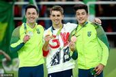 高清图:男子自由体操英国选手夺冠 巴西揽银铜