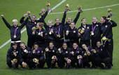 高清图:美日争夺女足冠军 洛伊德破门美国兴奋