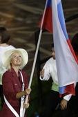 伦敦奥运会开幕式圆满结束,奥运开幕式运动员入场仪式的旗手中有很多女性的面孔,在这些之中不乏大美女,俄...