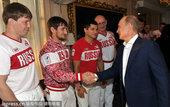 高清:俄罗斯柔道队凯旋回国 总统普金亲自接见