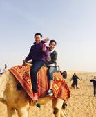 组图:刘诗雯与骆驼玩儿自拍 大呼去沙漠太好玩