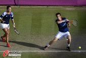 高清:网球混双赛 穆雷罗本森奋力接球顺利晋级
