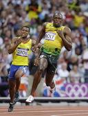 """北京时间8月9日凌晨,2012伦敦奥运会田径比赛在""""伦敦碗""""奥林匹克体育场结束男子200米半决赛争夺..."""