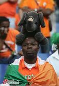 32强球迷之科特迪瓦:大象出场一顶俩 载歌载舞
